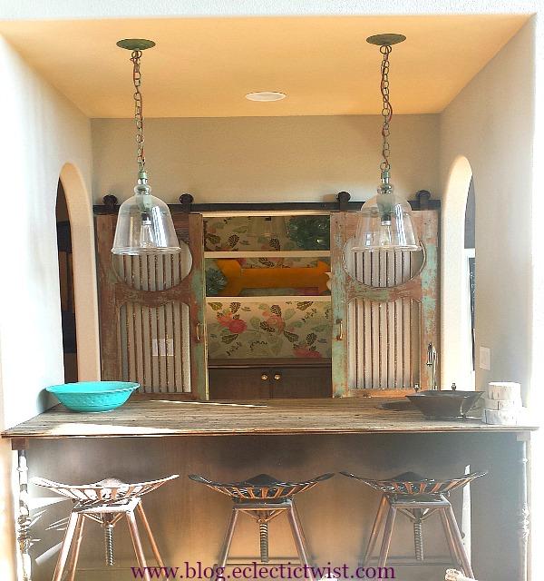bar kitchen DIY renovation home decor boxcar countertop