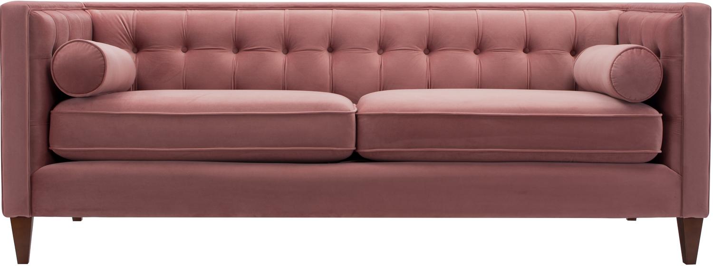 pink velvet sofa home decor mid century modern
