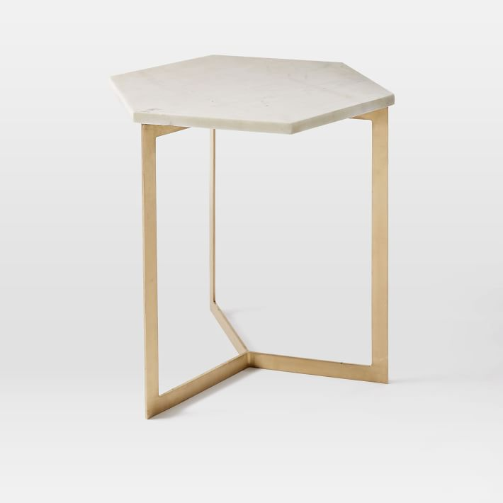 west elm hex side table home decor