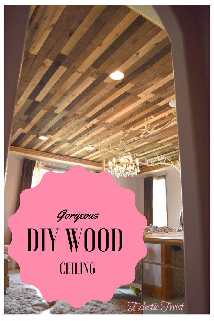 diy wood ceiling, weaber hardwood, weaber lumber, master bedroom
