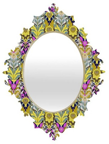 home decor, interior design, mirrors, mirror shopping guide, budget mirrors, budget friendly mirrors, glam, contemporary, rustic, metal, deny oval mary baroque color mirror, target