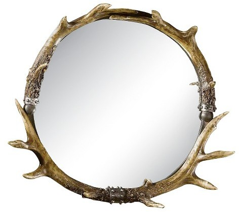 home decor, interior design, mirrors, mirror shopping guide, budget mirrors, budget friendly mirrors, glam, contemporary, rustic, metal, target uttermost horn round mirror