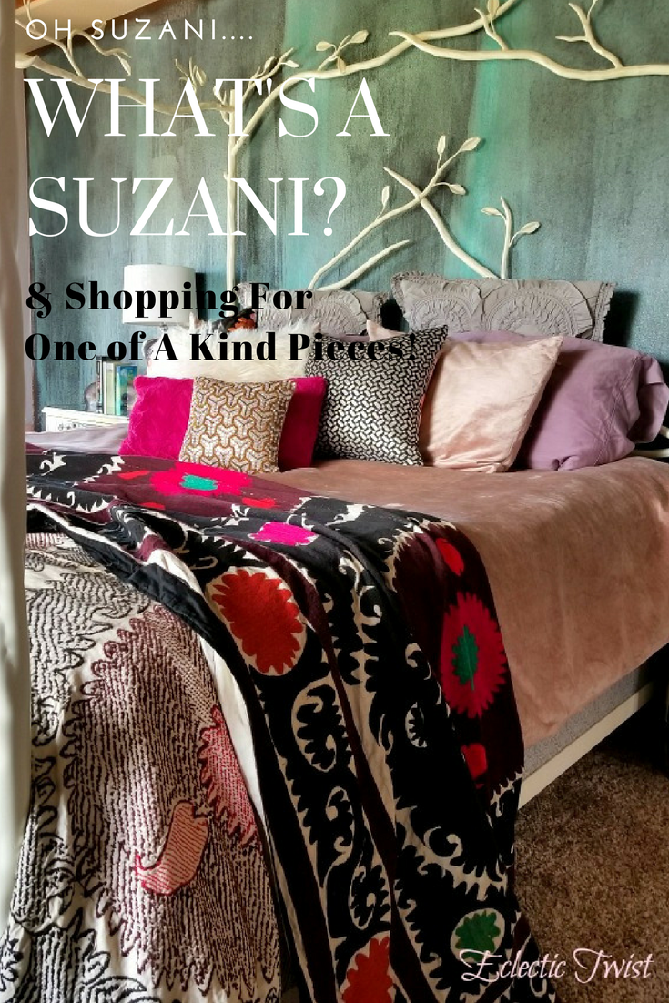 what's a suzani, handmade textiles, home decor, interior design, shopping for one of a kind pieces, suzani, bedroom decor