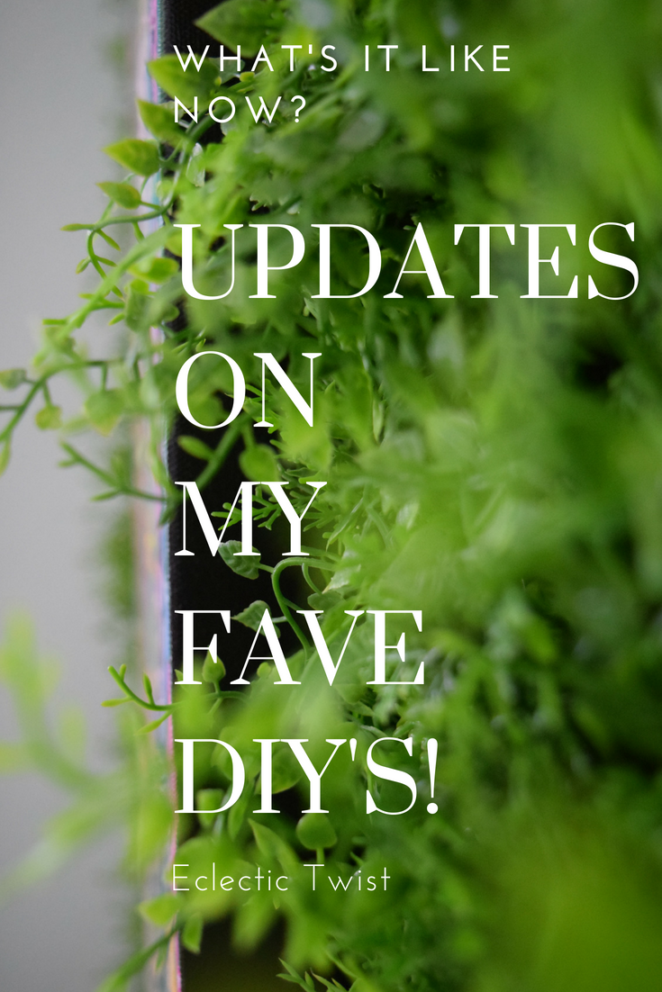 updates on my fave diys, home decor, interior design, faux greenery wall, living wall, metallic effects floor, gem floor, gem wall, bronze patina wall, reclaimed wood ceiling, metallic floor, greenery wall
