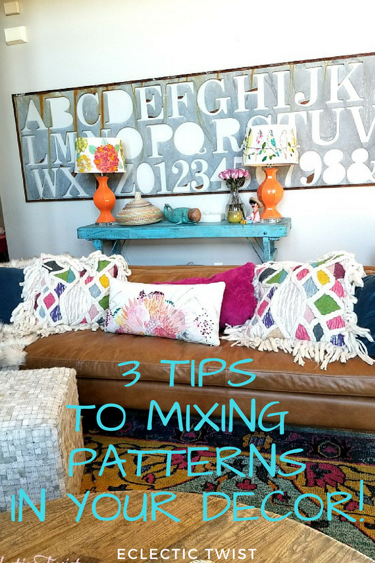 3 tips to mixing patterns in your decor, mixing patterns like a pro, home decor, interior design, using patterns in your home