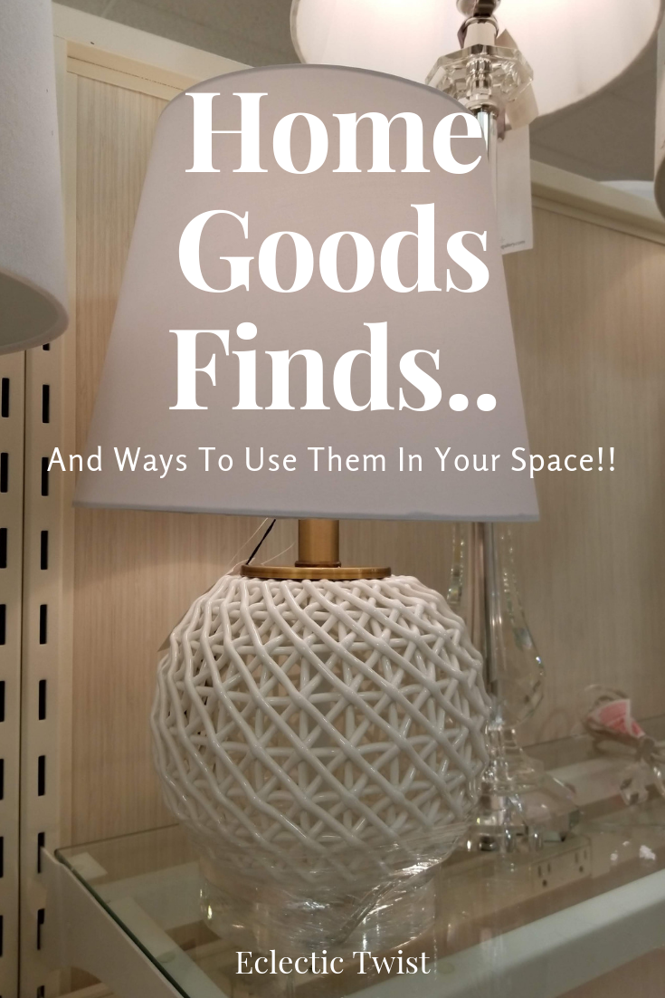 home goods finds, ways to use accessories in your spaces, fun finds at home goods, home decor, interior design, accessorize your space, graphic pieces to add interest