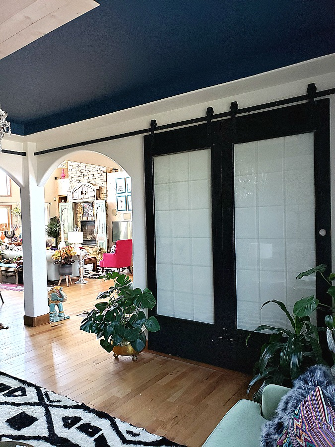 The Sophisticated Home Office Week 3 Diy Black And Glass Barn
