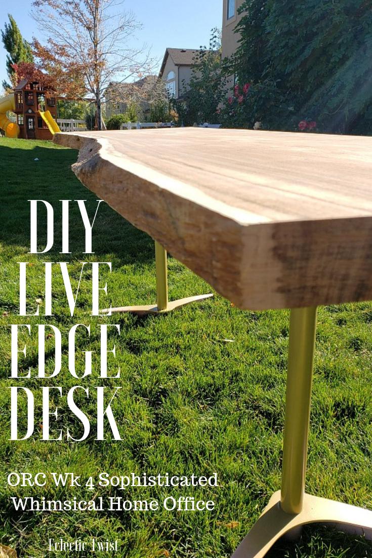 diy live edge desk, live edge table, diy live edge table, home decor, interior design, diy desk, diy table, slab table, slab desk, custom legs, live edge table under $400