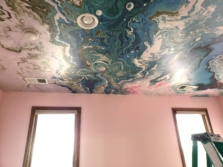 Peel Stick Wallpaper On The Ceiling Eclectic Twist