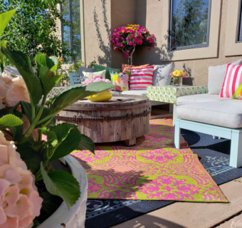 2019 Summer Home Tour: An Eclectic Colorful Outdoor Living Space